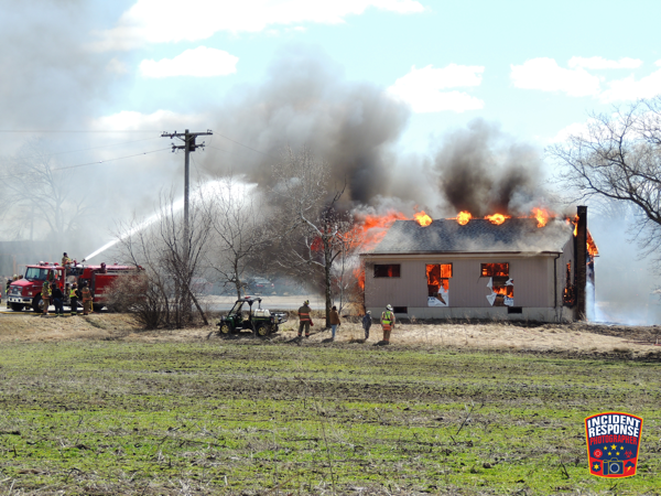 fire department burn down in Raymond WI