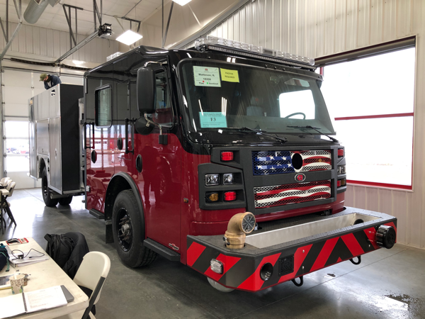 Rosenbauer Commander fire engine being built for the Matteson FD