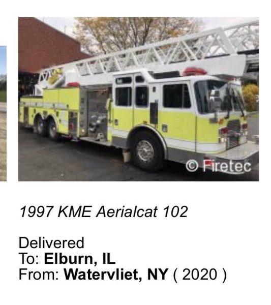 1997 KME AerialCat 102'
