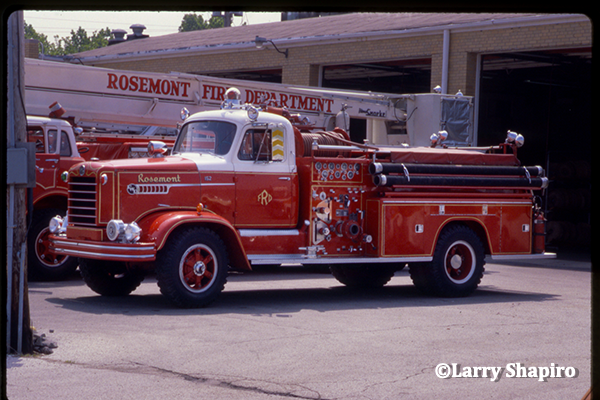 vintage FWD fire engine in Rosemont IL