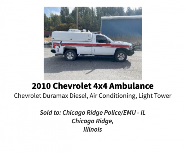 used 2010 Chevrolet pick with cover purchased for Chicago Rdige EMU