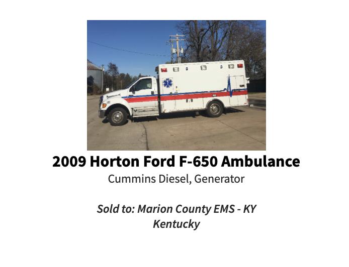 200- Ford F650 / Horton Type 1 ambulance
