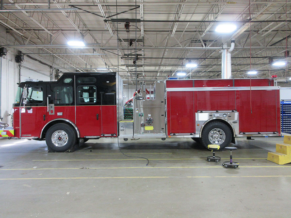 E-ONE Cyclone fire engine being built