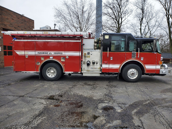 Bensenville Fire District fire engine for sale
