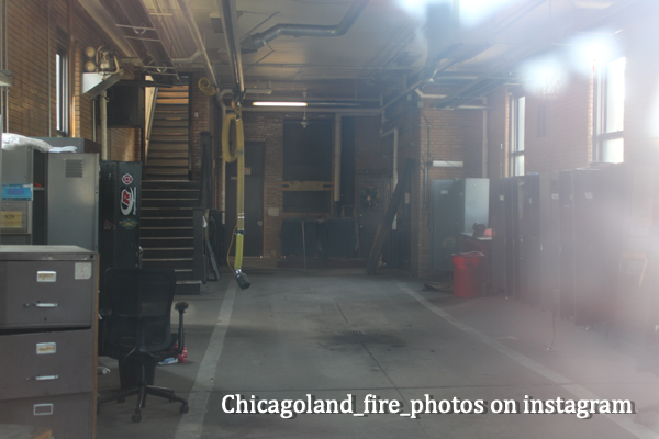 interior of closed firehouse