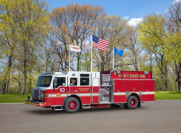 New Pierce Impel pumper for Northbrook FD Engine 10