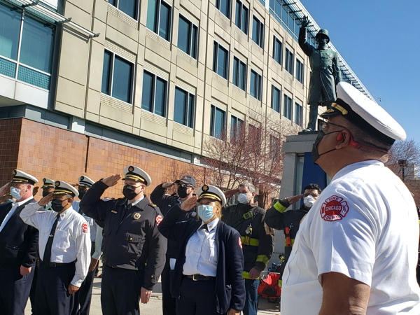 Chicago Fire Department Commissioner Richard C. Ford II retires