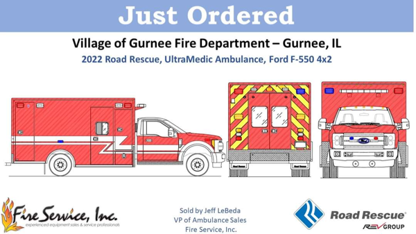 drawing of Road Rescue Type I ambulance exterior