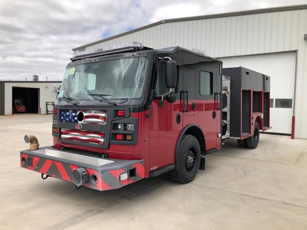 Rosenbauer Commander fire engine being built for the Matteson FD