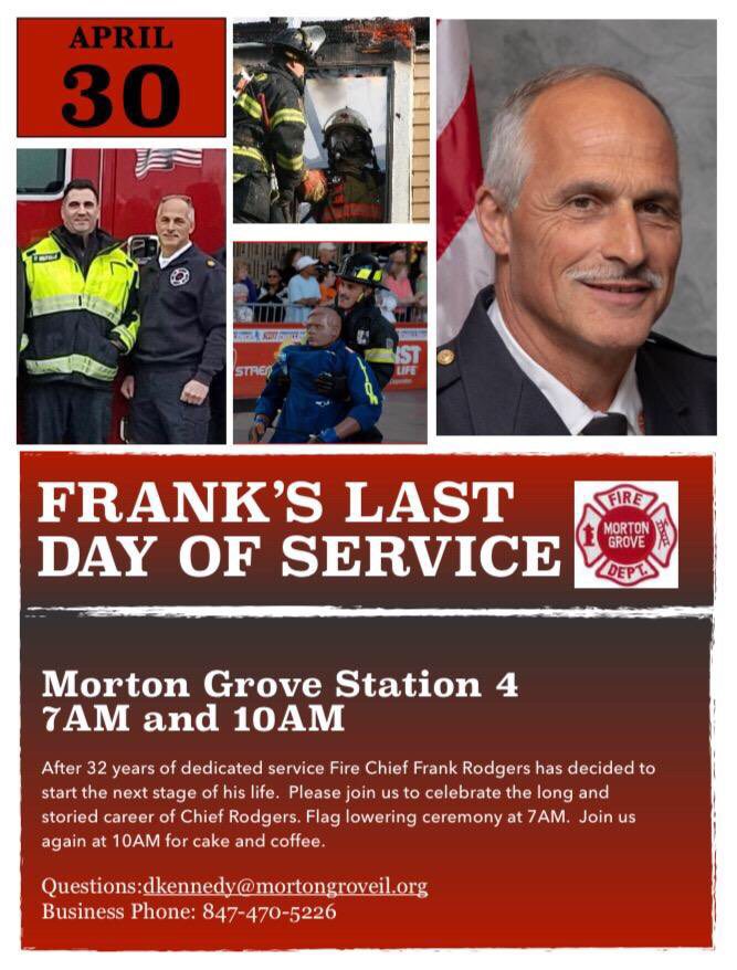 retirement of Morton Grove FD Fire Chief Frank Rodgers