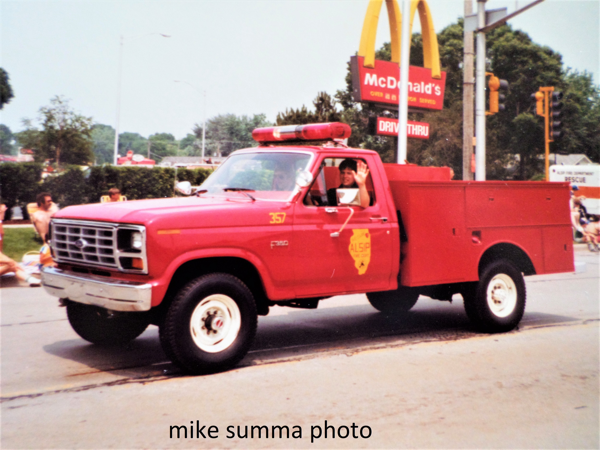 old Alsip FD utility truck