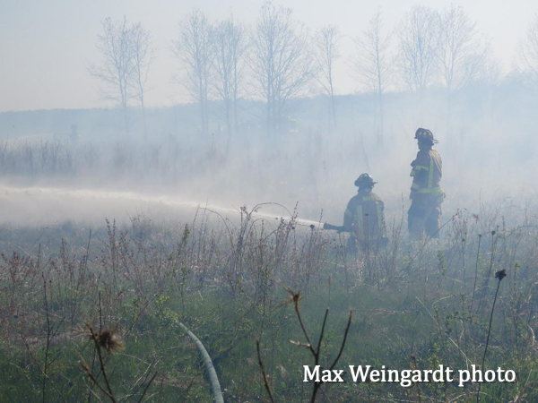 Cuba Marsh brush fire
