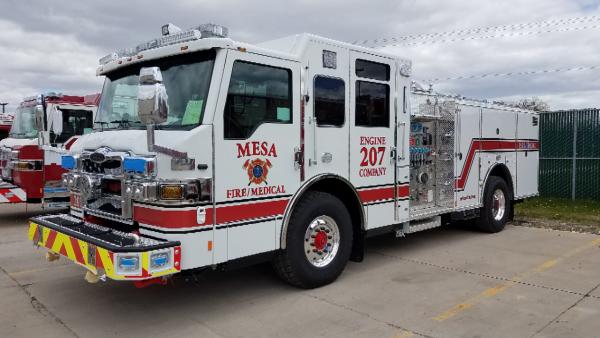 new Pierce fire engine for Mesa, AZ