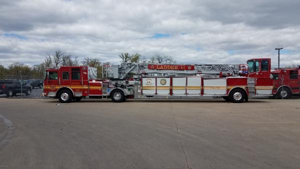 new Pierce fire truck for Jacksonville, FL