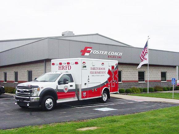 Harlem-Roscoe Fire District ambulance