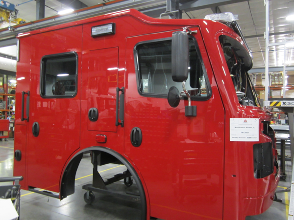 Rosenbauer Commander cab on the assembly line