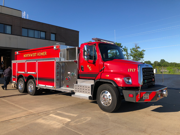 new Freightlienr/Rosenbauer tender for the Northwest Homer FPD