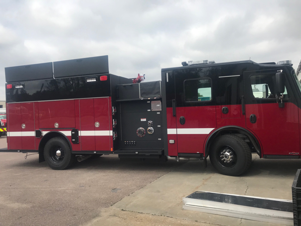 fnew fire engine with Line-X and no chrome