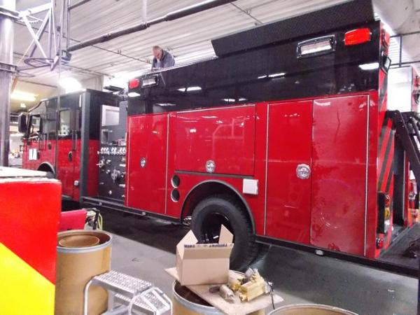 Rosenbauer fire engine being built
