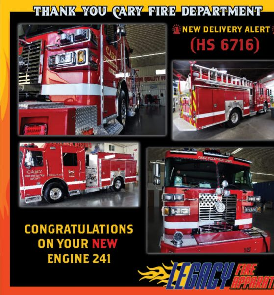 new Sutphen fire engine for the Cary FPD in Illinois