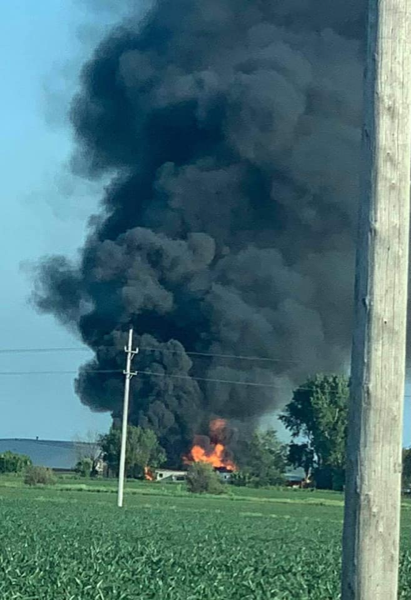 massive smoke from pallet fire