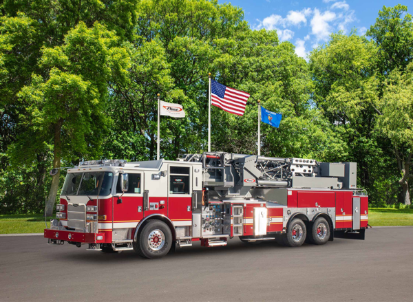 new fire truck for Highland Park FD in Illinois
