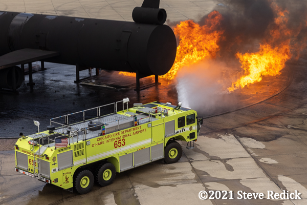 Chicago FD ARFF 6-5-3 at the burn pit.