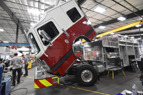 new Rosenbauer Commander fire engine