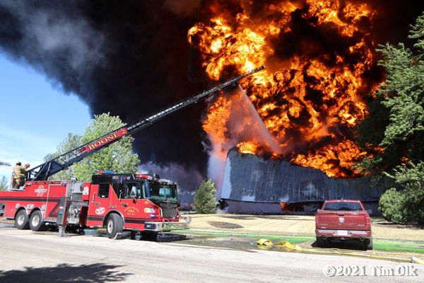 massive fire ball at chemical company fire