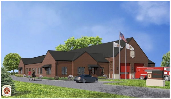 rendering of the new Barrington Countryside FPD Station 39