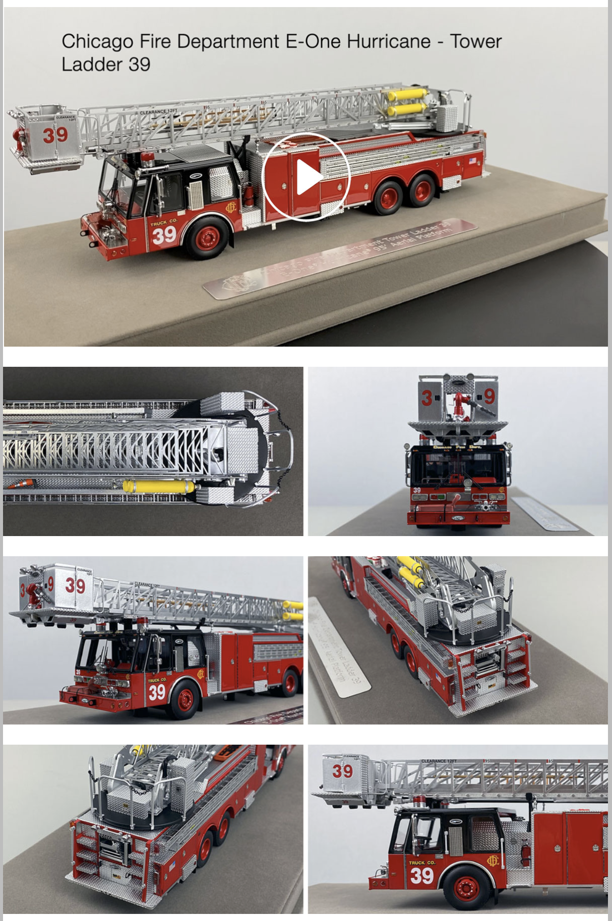 Chicago Fire Department replica models