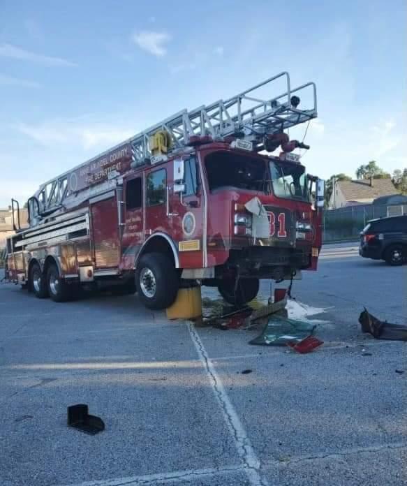 Photos of Anne Arundel County FD Truck 31, formerly Oak Lawn FD Truck 1 found on Facebook