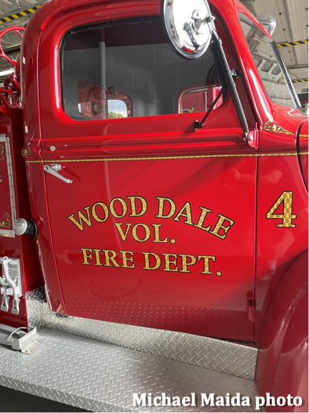 Wood Dale Fire Department antique fire engine