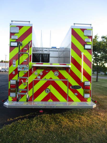 E-ONE Typhoon stainless steel e-MAX fire engine