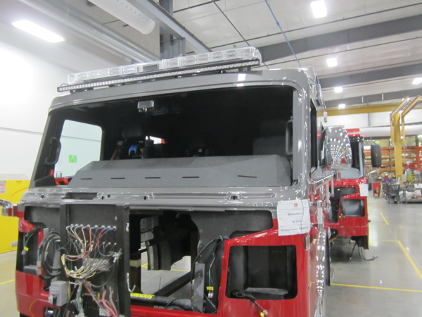 Rosenbauer Commander cab being built for the Manhattan FPD in Illinois