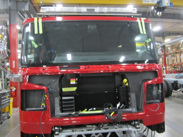 new Rosenbauer Commander cab being completed