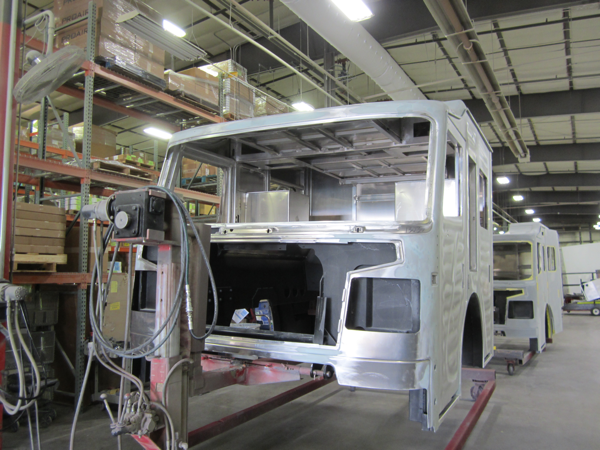 Rosenbauer Commander cab being built for the Frankfort FPD in Illinois