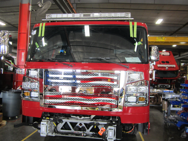 Rosenbauer Command chassis on the assembly line
