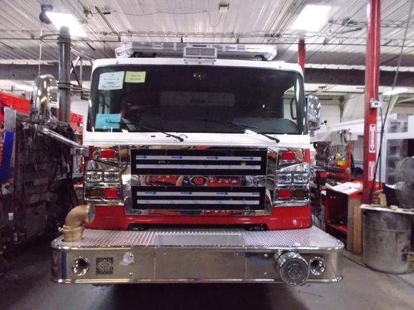 Rosenbauer Commander fire engine being built