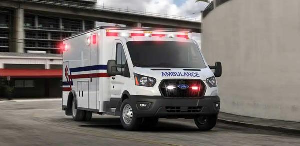 Ford Transit cutaway chassis Type 3 ambulance