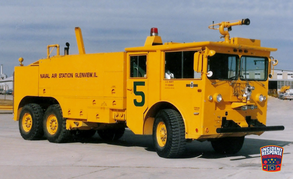 historic fire truck from the former Glenview Naval Air Station