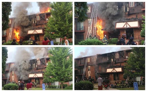 Apartment fire in Calumet City, Illinois