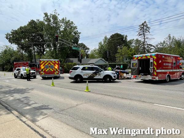 Deerfield police at a crash scene