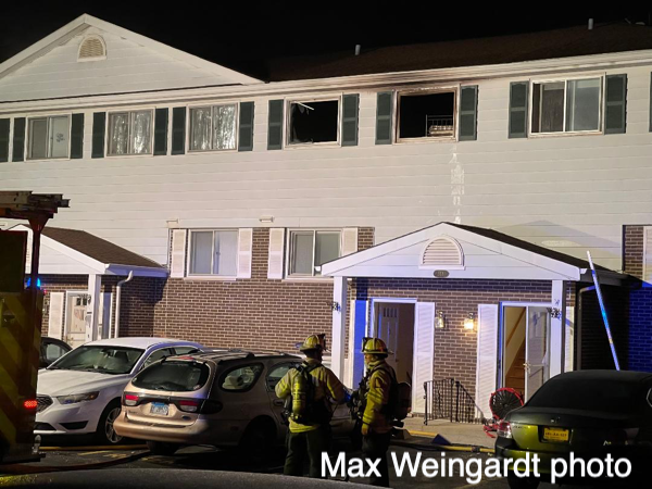 scene of an apartment fire in Libertyville
