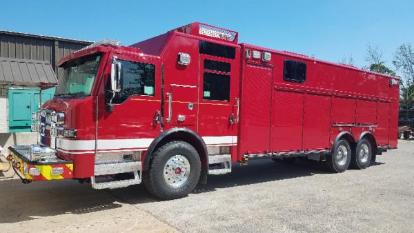New Pierce Velocity heavy rescue squad for the Dallas Fire Department