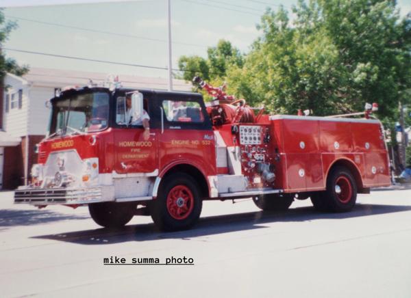 Homewood FD Engine 532 - 1971 Mack CF611 1250/750 pumper