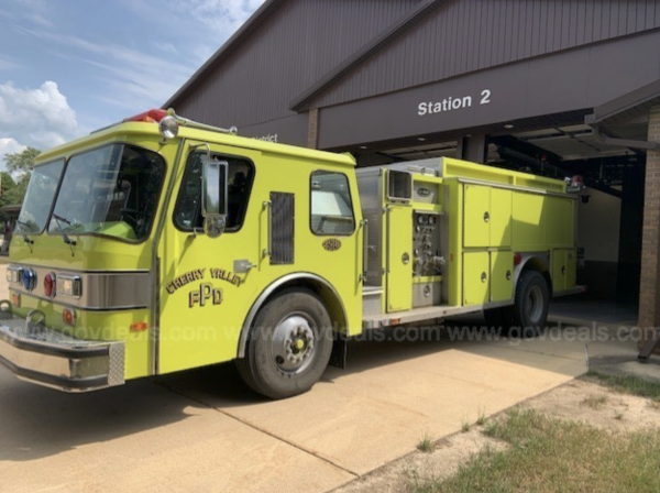 1988 E-ONE fire engine for sale by the Cherry Valley FPD in Illinois