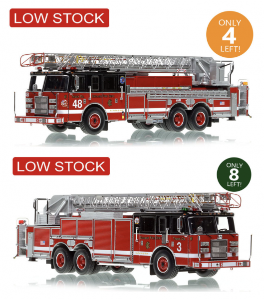 Fire Replicas Chicago FD 2000 Pierce rear mount aerial ladder truck