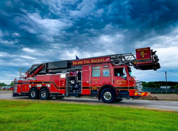 New Pierce tower ladder for the Orland FPD in Illinois