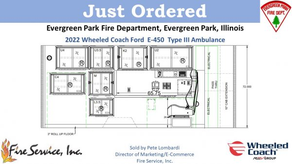 new ambulance for the Evergreen Park FD